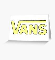 yellow vans  Greeting Card