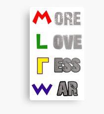 More Love Less War Metal Print