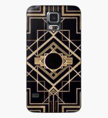 Art deco,vintage,1920 era,The Great Gatsby,gold,black,pattern,elegant,chic,modern,trendy Case/Skin for Samsung Galaxy