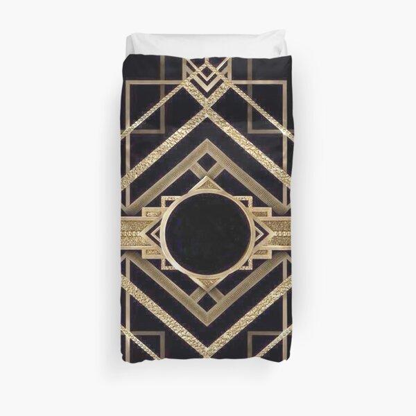 Art deco,vintage,1920 era,The Great Gatsby,gold,black,pattern,elegant,chic,modern,trendy Duvet Cover