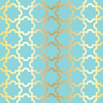 Gold,turquoise,mint,moroccan,quatrefoil,pattern,modern,trendy,girly,elegant,chic by love999