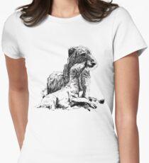 Deerhound Mutter und Kind Tailliertes T-Shirt