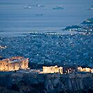 Acropolis By Night by phil decocco