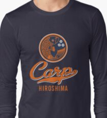 Hiroshima Carp Logo Retro Long Sleeve T-Shirt