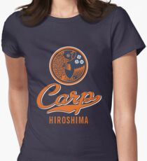Hiroshima Carp Logo Retro Women's Fitted T-Shirt
