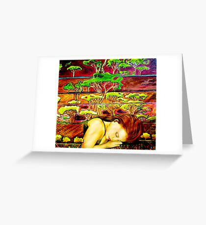 Jade's Dream - Oil Painting Greeting Card
