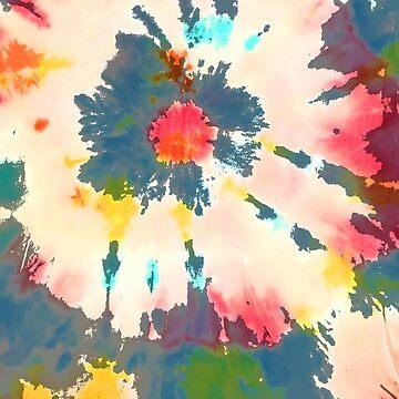 tie dye print rainbow by MadmyrtleDesign