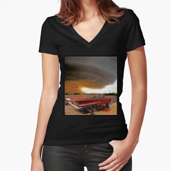 Impala & Impending Doom Fitted V-Neck T-Shirt