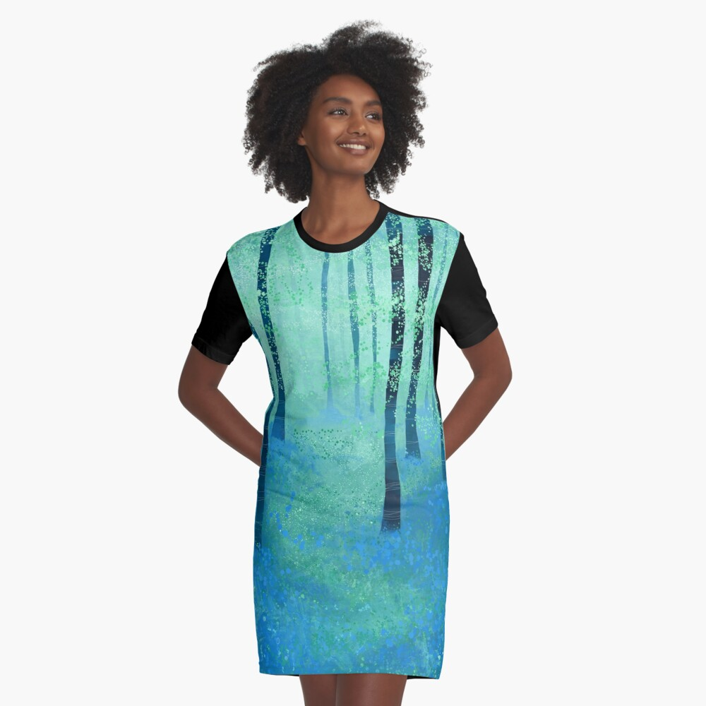 Bluebells, Challock Graphic T-Shirt Dress Front