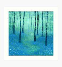 Bluebells, Challock Art Print