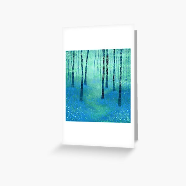 Bluebells, Challock Greeting Card