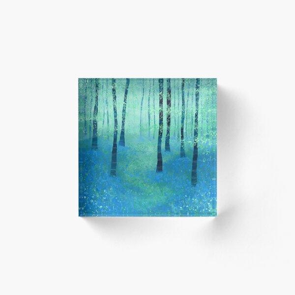 Bluebells, Challock Acrylic Block