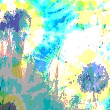 tie dye blue yellow aqua by MadmyrtleDesign