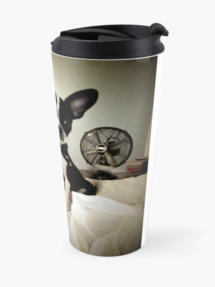 Alternate view of Keep an Ear To the Wind Travel Mug