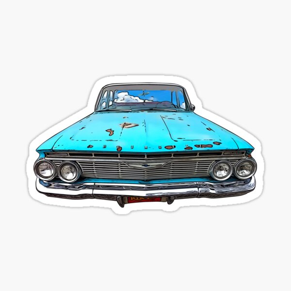 60's Vintage Car Sticker