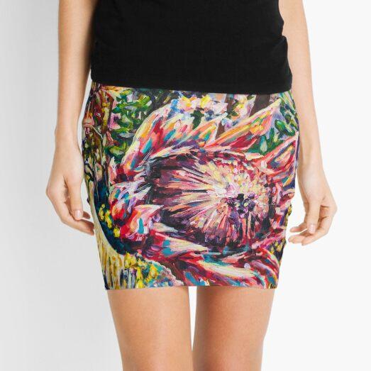 We Colourful Flowers Mini Skirt