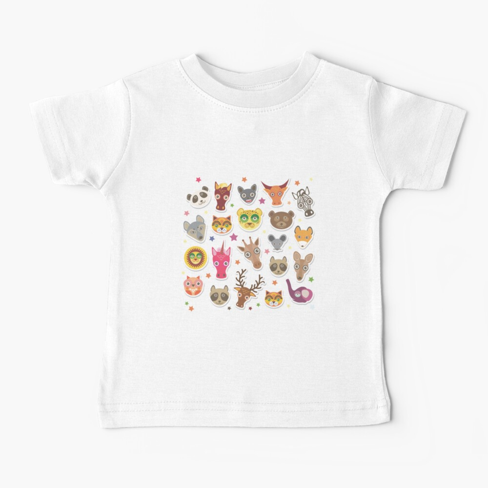 funny animals muzzle Baby T-Shirt