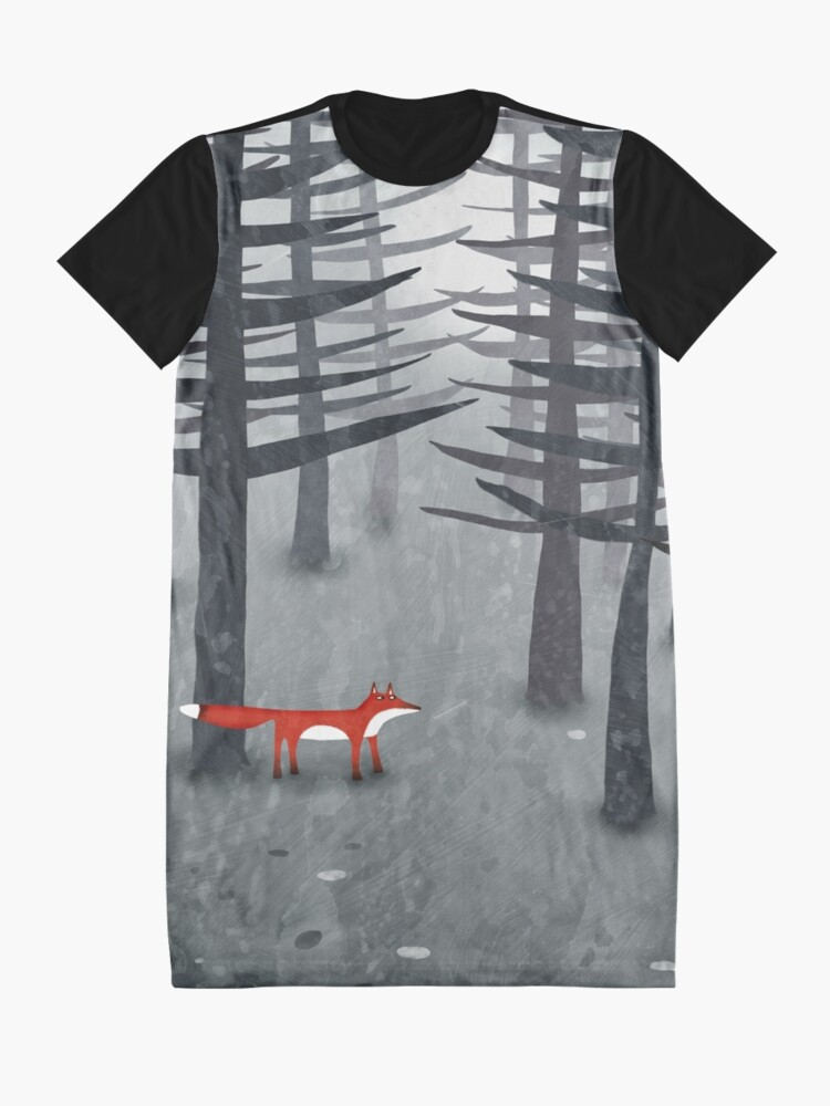 Alternate view of The Fox and the Forest Graphic T-Shirt Dress