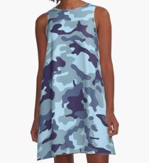 Water Sea Camouflage A-Line Dress