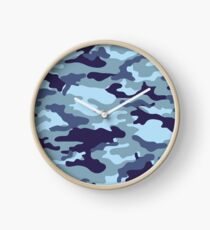 Water Sea Camouflage Clock