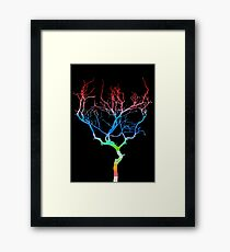 Colored Tree Framed Print