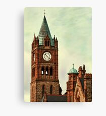 Derry Guildall - clock tower Canvas Print
