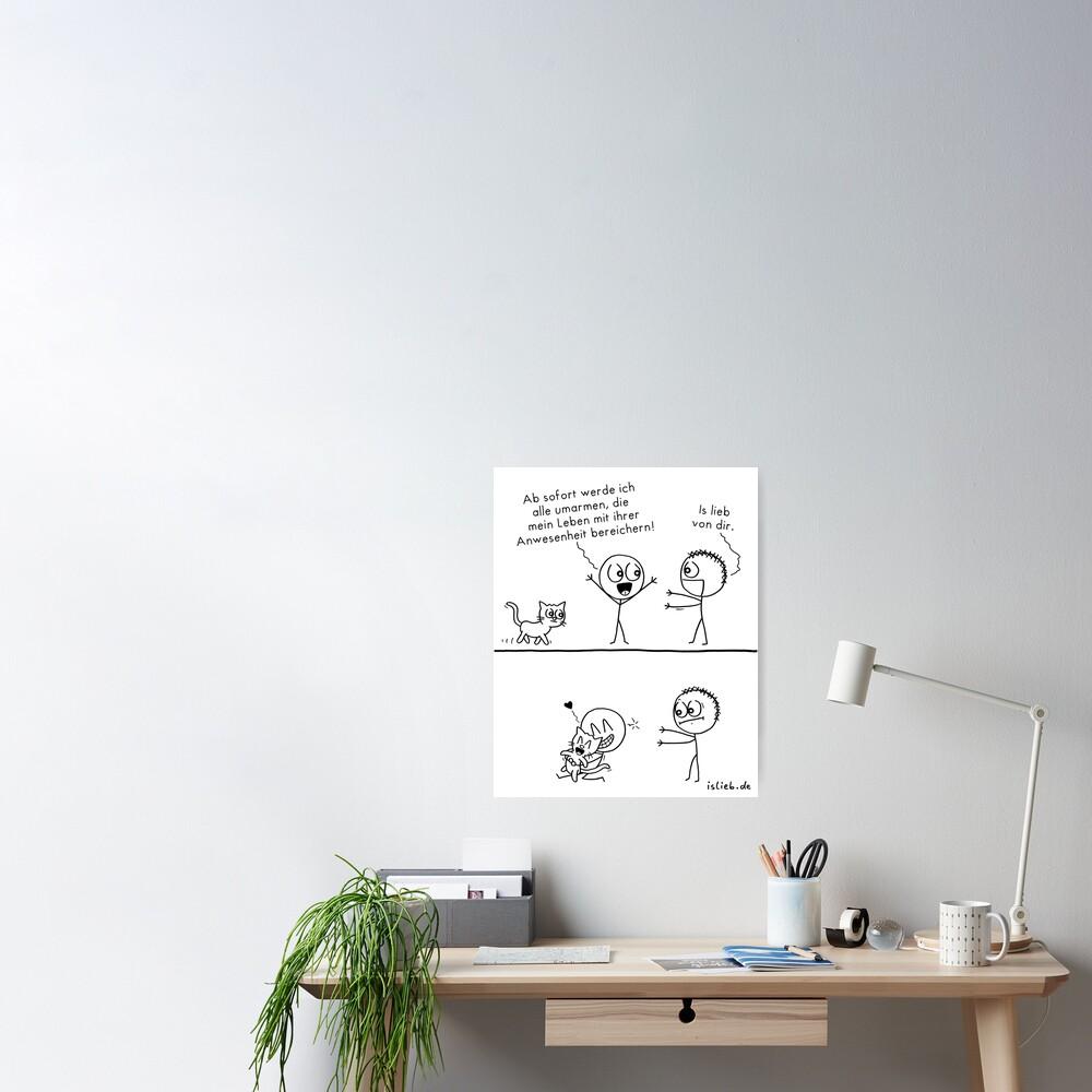 Alle umarmen islieb-Comic Poster