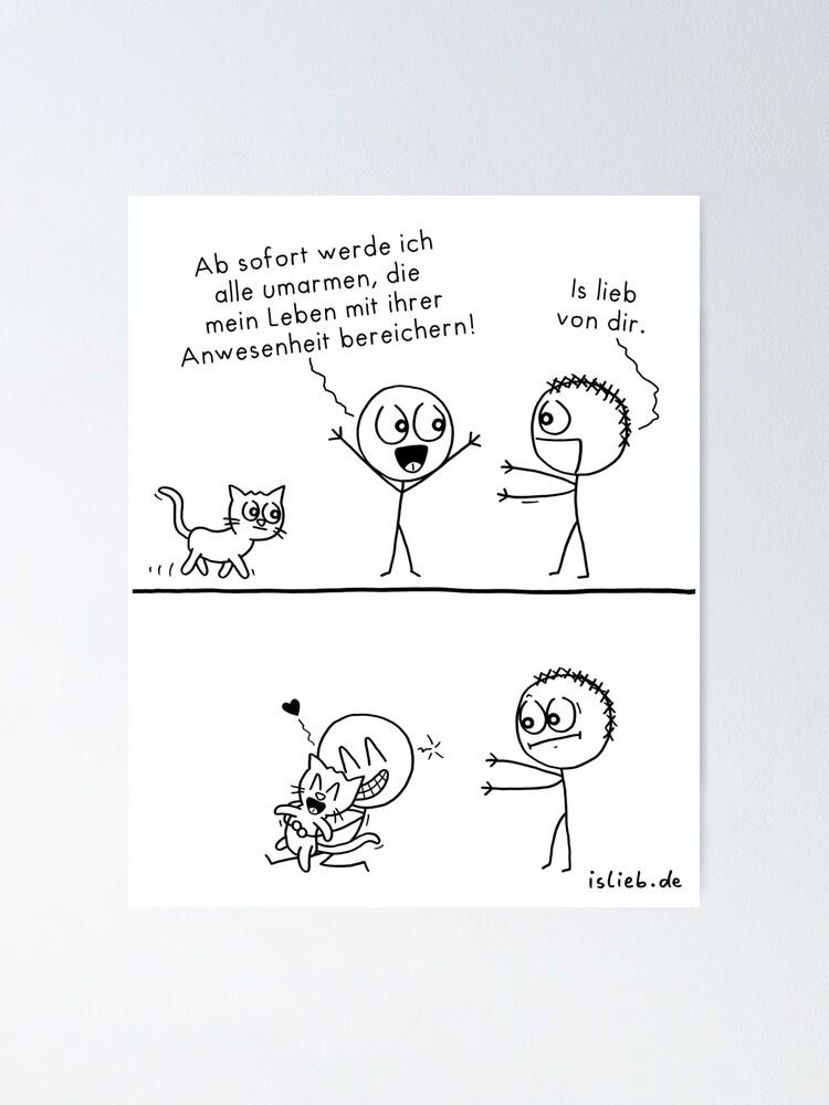 Alternative Ansicht von Alle umarmen islieb-Comic Poster