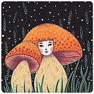 Uncommon Variety - Copper Mushroom by Emma Hampton
