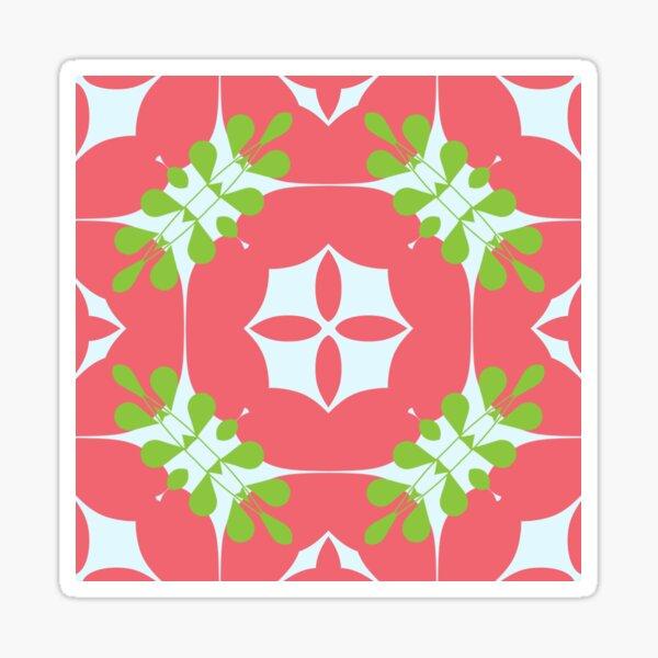 Rosa romantische frische Natur Muster Garten Blumenstrauß nahtlose bunte Wiederholung Sticker