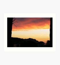 Sunset Gordons Bay Art Print