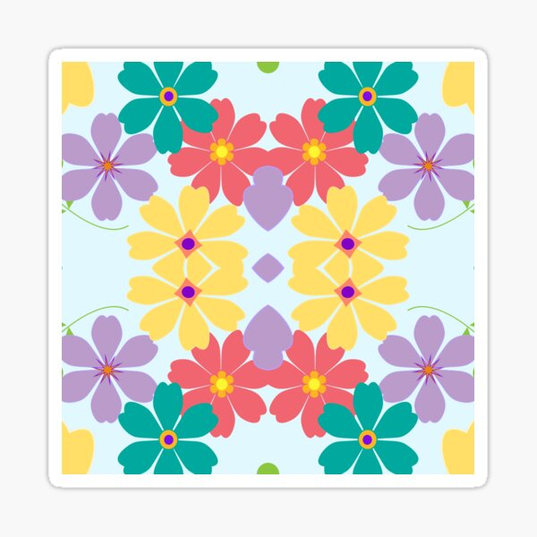 Hochzeit Blossom Blatt floral nahtlose bunte Wiederholungsmuster Sticker