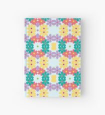 wedding blossom leaf floral seamless colorful repeat pattern Hardcover Journal