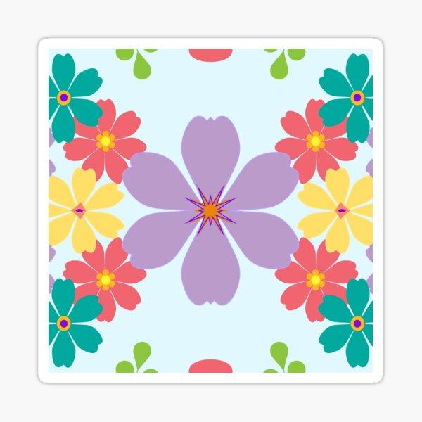 Design Blattfeder Blätter rosa nahtlose bunte Wiederholungsmuster Sticker