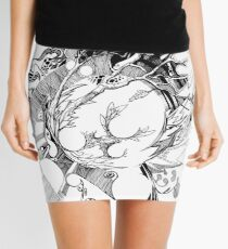 The Wobbly Triangulation Theory - Pen & Ink Illustration Art Mini Skirt