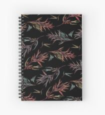 Pattern - Native Leaves (Dark) Spiral Notebook