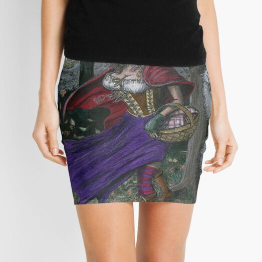 Little Red and the Big Bad Wolf Mini Skirt