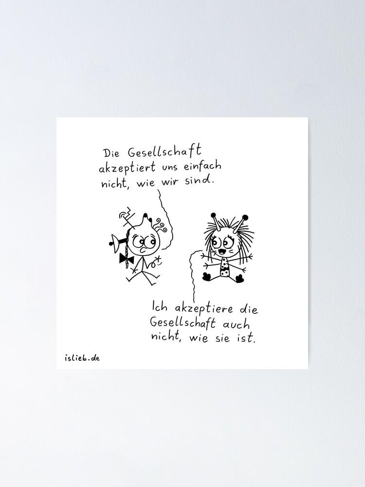 Alternative Ansicht von Inakzeptanz islieb Cartoon Poster