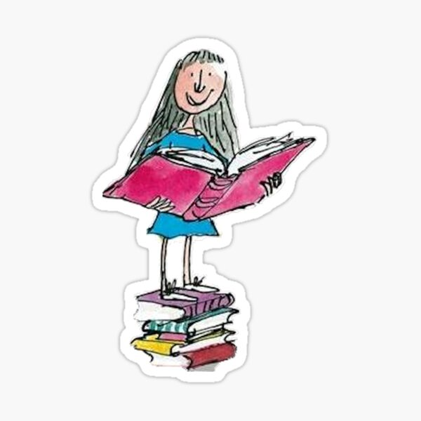 Matilda bookworm  Sticker