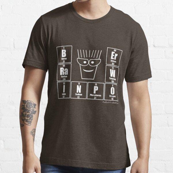 BRaINPOWEr - White print Essential T-Shirt
