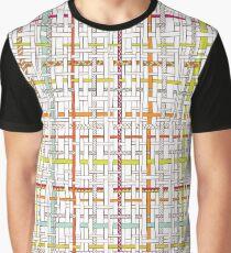 Woven Pen Pattern Graphic T-Shirt