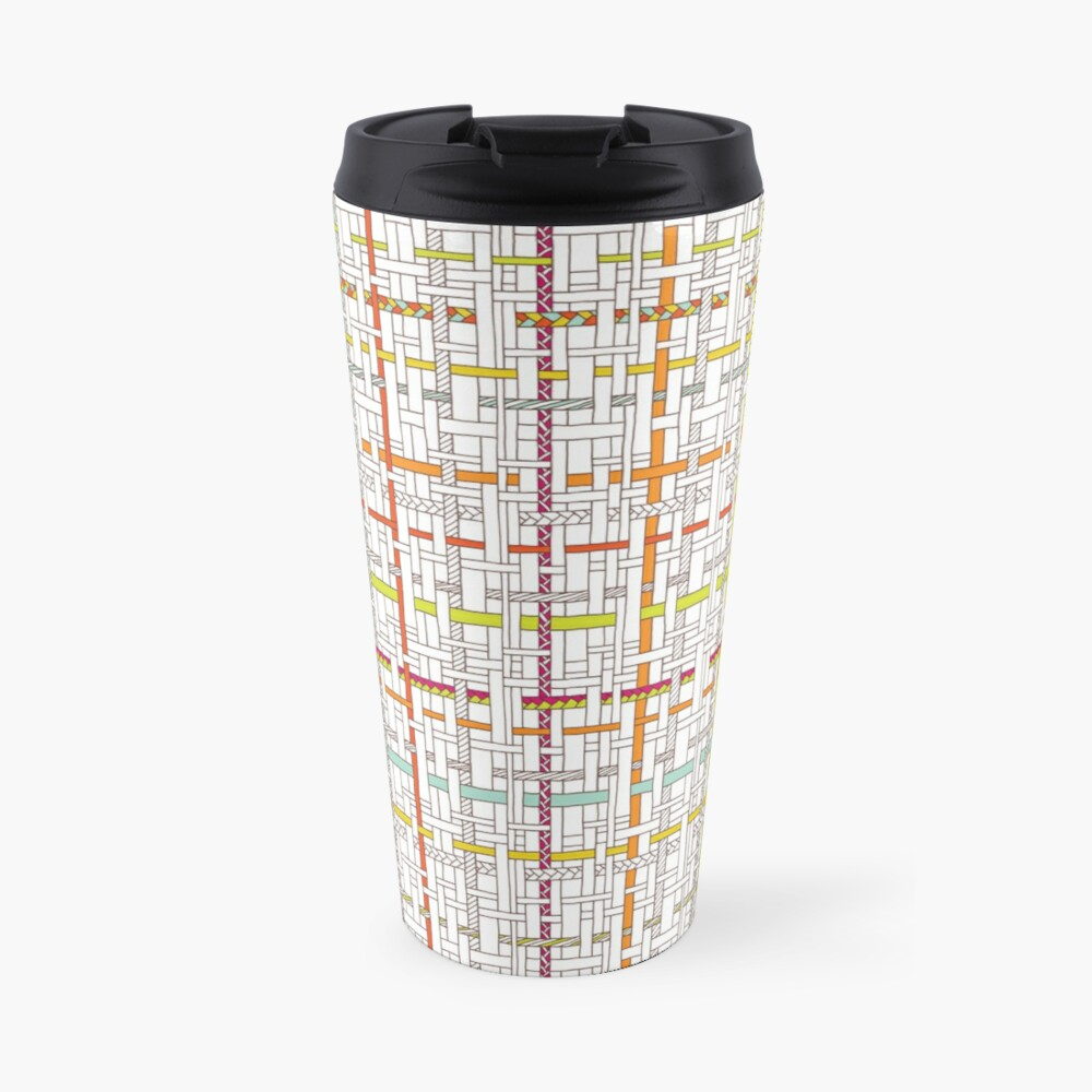 Woven Pen Pattern Travel Mug