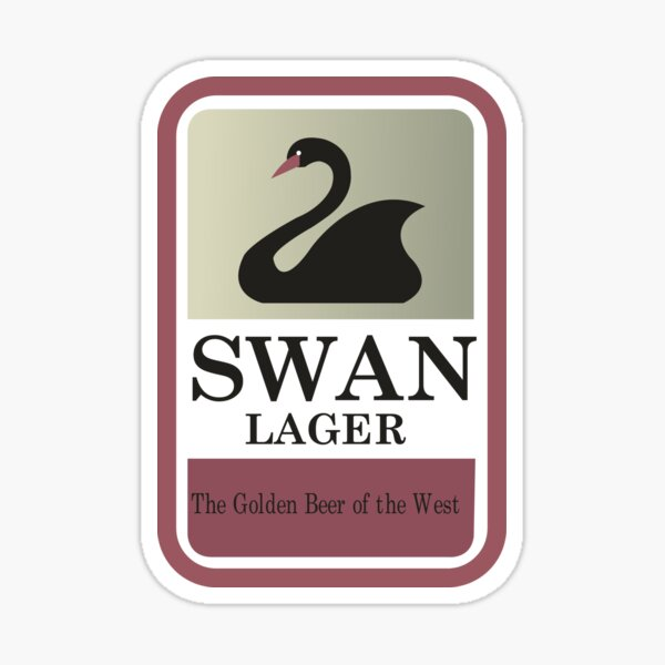 Swan Lager - Made In WA Sticker