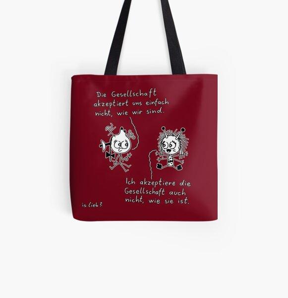 Inakzeptanz islieb Cartoon Allover-Print Tote Bag