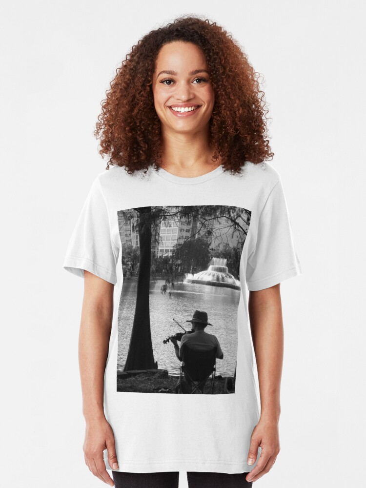 Alternate view of Love Music  Slim Fit T-Shirt
