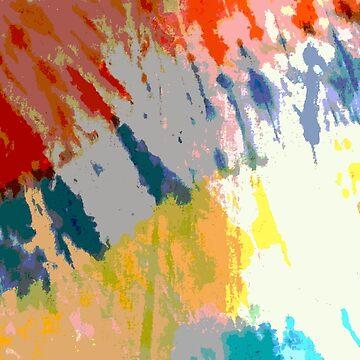 tie dye orange blue by MadmyrtleDesign