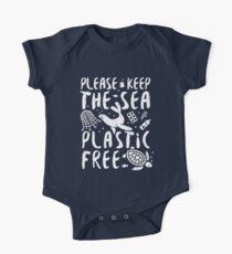 Bitte halten Sie die Sea Plastic Free Marine Tiere. Baby Body Kurzarm
