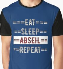 Eat Sleep Abseil Repeat Rock Climbers Gift Graphic T-Shirt
