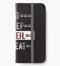 Rock Climbers Gift Eat Sleep Abseil Repeat  iPhone Wallet/Case/Skin