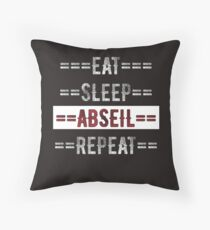 Eat Sleep Abseil Repeat Rock Climbers Gift Throw Pillow